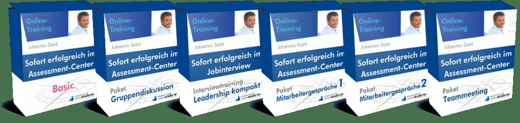 Der Assessment-Center-Masterplan besteht aus 6 Online-Trainings und stellt die umfangreichste und professionellste Form der Assessment-Center-Vorbereitung dar.